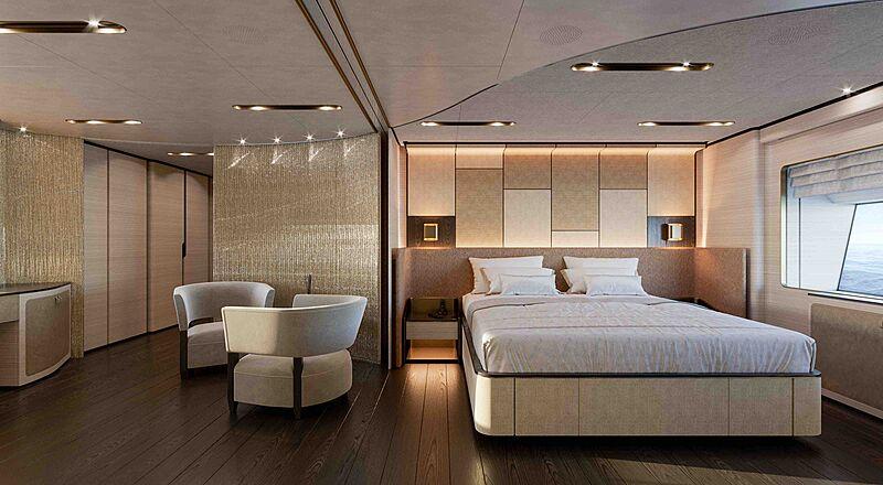Master suite rendering © Baglietto