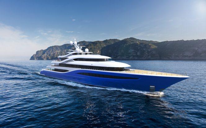 Turquoise Yachts 87m mega yacht Project Vento