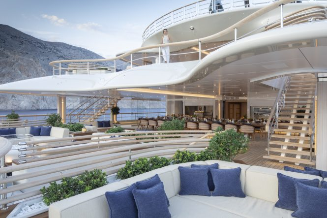 Ultra-luxurious mega yacht FLYING FOX available for charter © Guillaume Plisson for Imperial