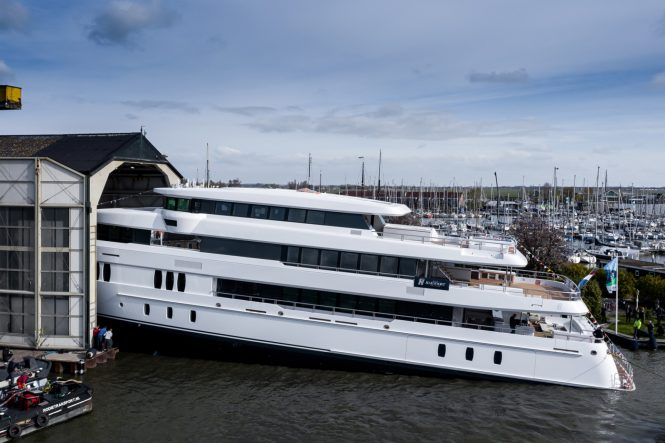 luxury yacht TOP FIVE II at launch