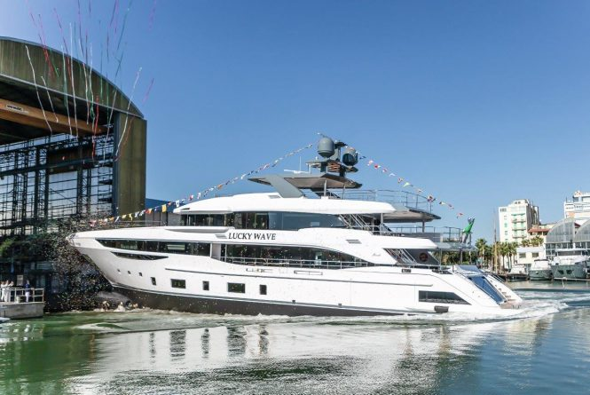 Motor yacht LUCKY WAVE launched at Benetti shipyard in Italy