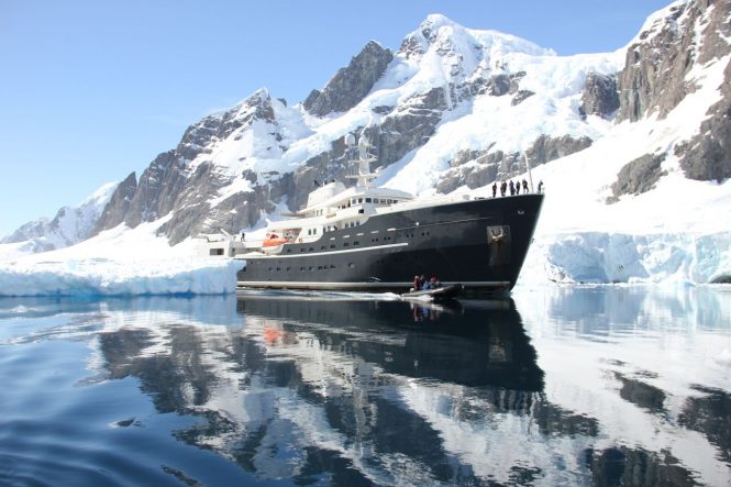 Superyacht LEGEND in Antarctica - Photo ©Nicolas Benazeth