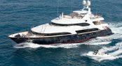 Charter superyacht Blue Vision at the Monaco Grand Prix